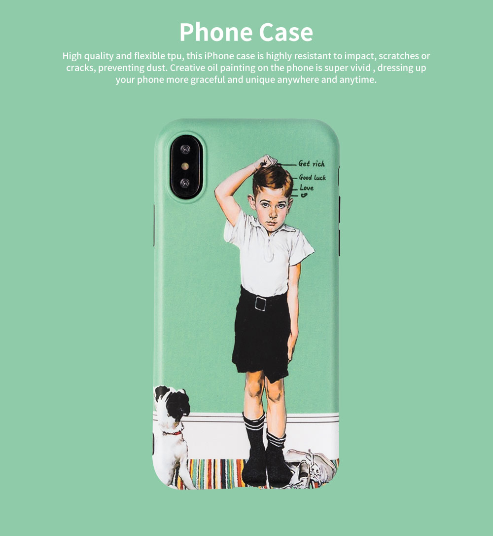 Creative Phone Case Retro Europe and America Matte Soft TPU Back Case Cover Phone Protective Shell for iPhone 6s 7/ 7 Plus / 8/ 8 Plus/XS/X MAX/XS MAX/XR 0