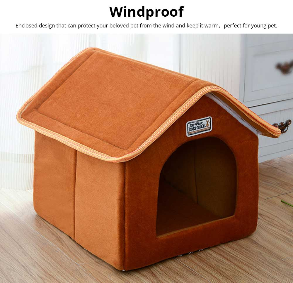 Dogs Cats Home Washable Soft Durable Detachable Pet Nest Autumn and Winter Thickened Pet House for Cat & Small Dog 2