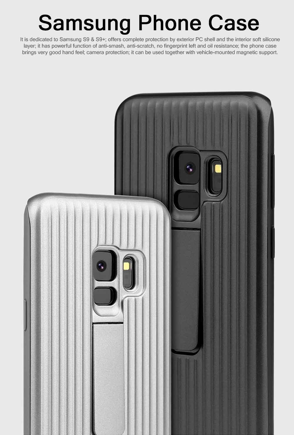 New-style Samsung Phone Case for Galaxy S9 & S9 Plus Vehicle-Mounted Protective Case Vertical Support Phone Case 0