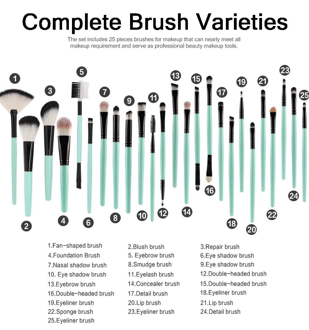 25 PCS Complete Makeup Brushes Set, Professional Beauty Makeup Brushes Hot Selling Makeup Tool 4