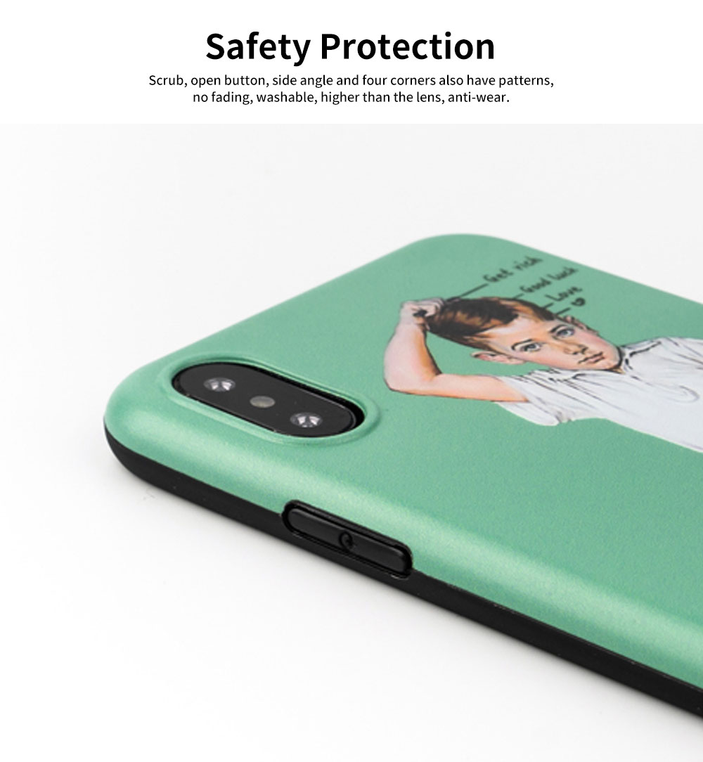 Creative Phone Case Retro Europe and America Matte Soft TPU Back Case Cover Phone Protective Shell for iPhone 6s 7/ 7 Plus / 8/ 8 Plus/XS/X MAX/XS MAX/XR 4