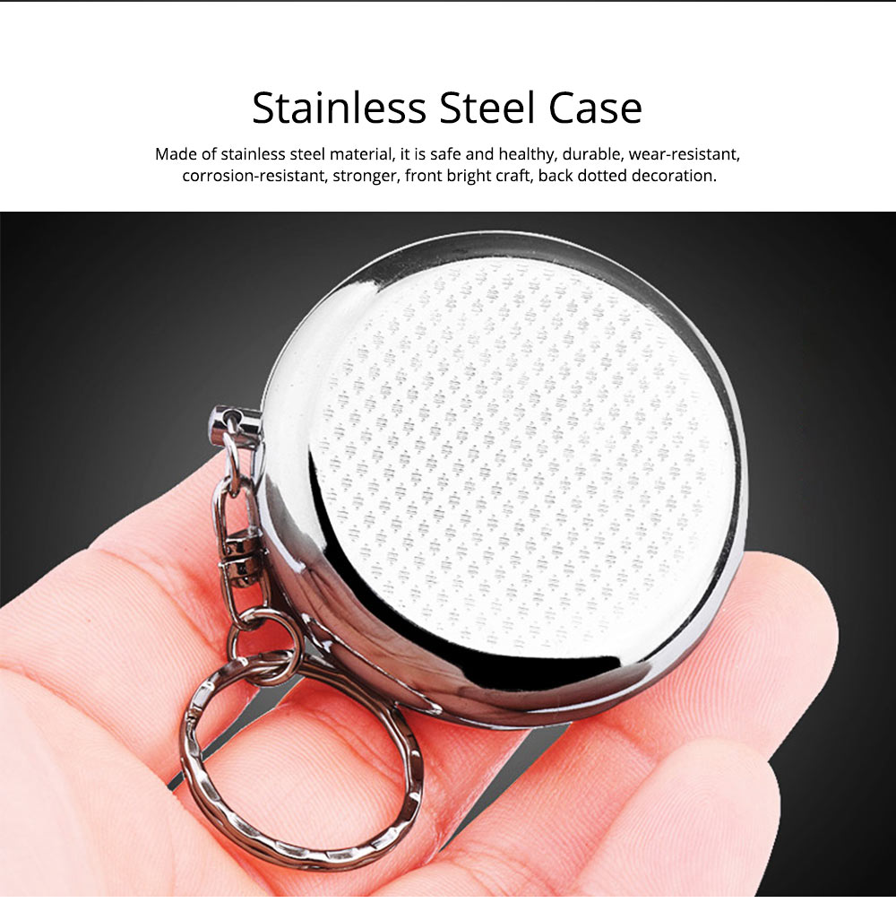 Stainless Steel Pill Holder, Creative 4 Shapes Pill Box With Inner Grid Design 1