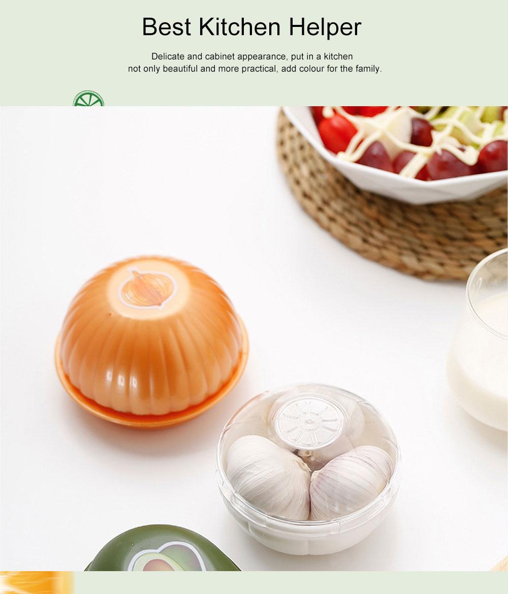 Mini Vegetable Sealed Box, Non-toxic Portable Plastic Crisper Set, Transparent Grape & Garlic Crisper Bowl 2