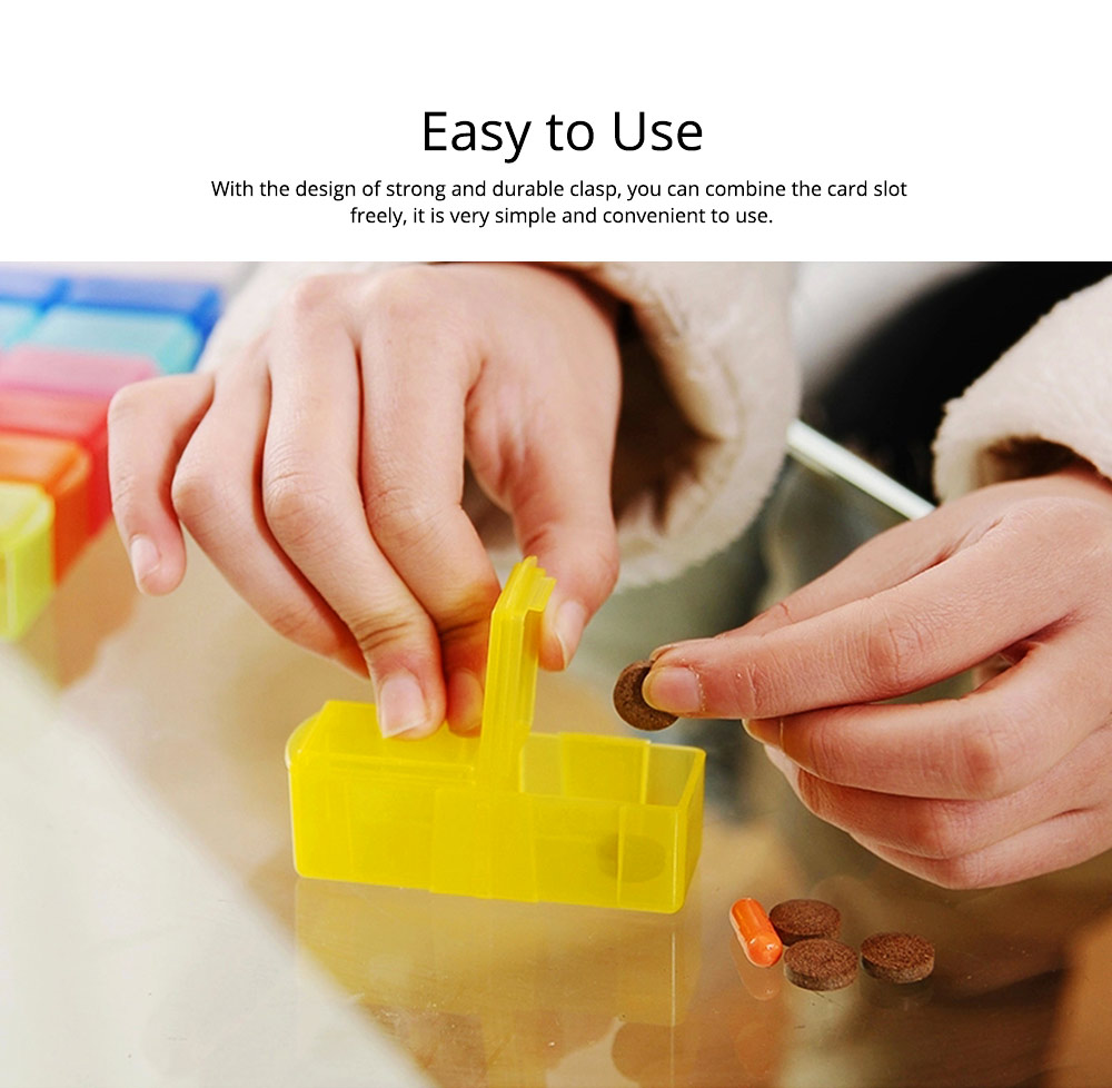 7 Day Detachable Pill Organizer with Pill Cutter, Travel Portable Weekly Medicine Dispenser 4