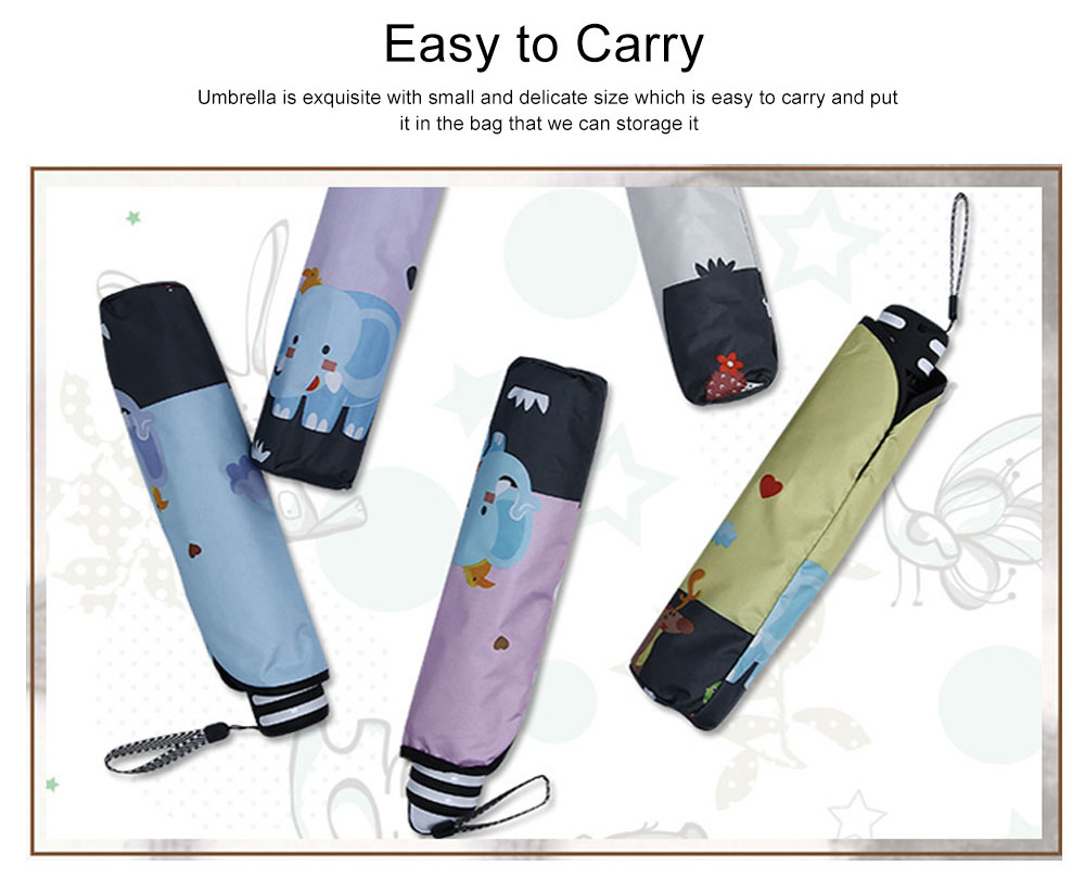 Lady's Outdoor Sun Umbrella with Triple Fold Sun Block, Multifunctional Umbrella with Lacquer Baking Handle 7