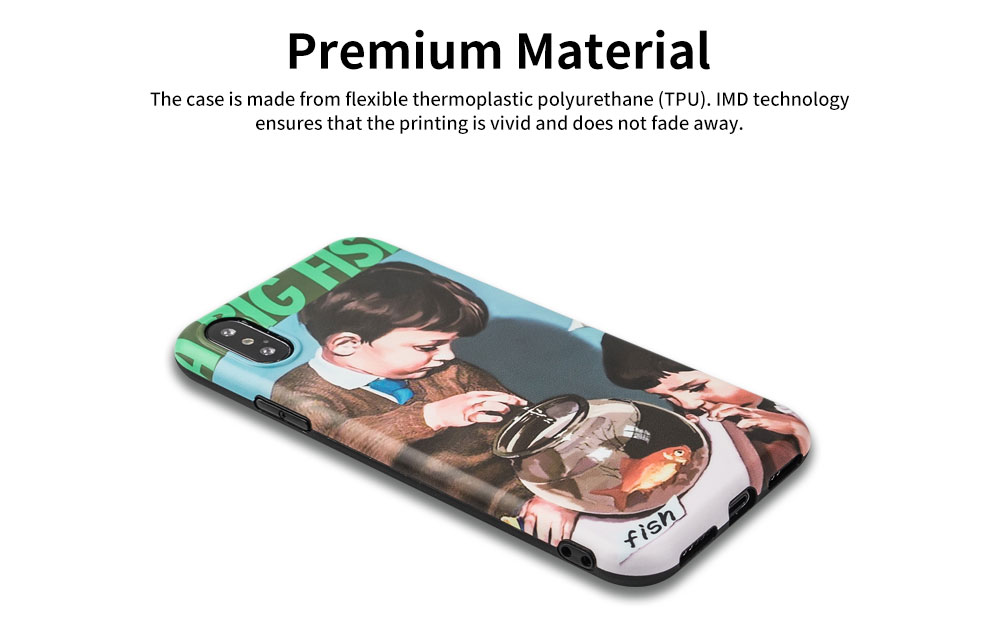 Soft TPU Full Body Protective Back Cover for iPhone 6s 7/ 7Plus/ 8/ 8 Plus/X/XS MAX/XR Retro Phone Shell Case 8