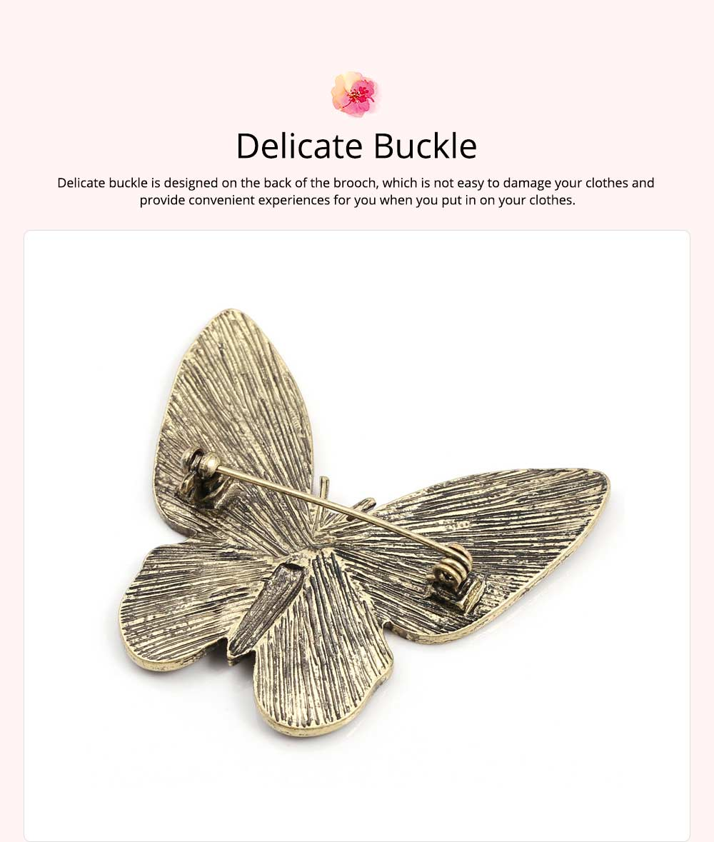 Stylish Atmosphere Butterfly Cartoon Insect Brooch for Ladies, Diamonds Drilling Dripping Clothes Accessories Decoration Breastpin 5