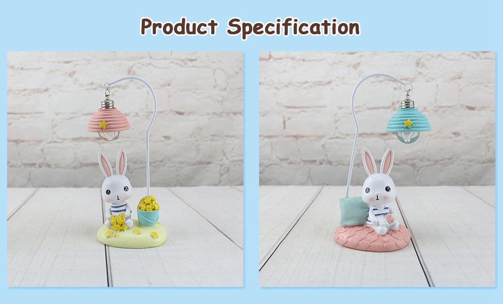 Cartoon Rabbit Night Light Resin Mini LED Night Lamp Home Decoration Creative Resin Ornaments 6