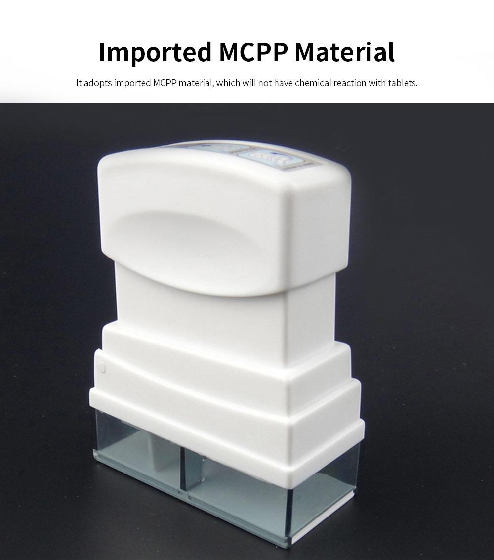 Stamper Shape Pill Cutter Box for Children Elderly, Sharp Stainless Steel V-shape Medicine Cutter Splitter 3