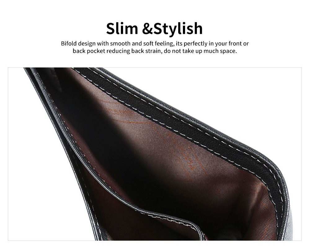 Multi-layer Quality Genuine Leather Slim Wallets Bifold Vintage Money Clip Gifts for Male Men Boy 4