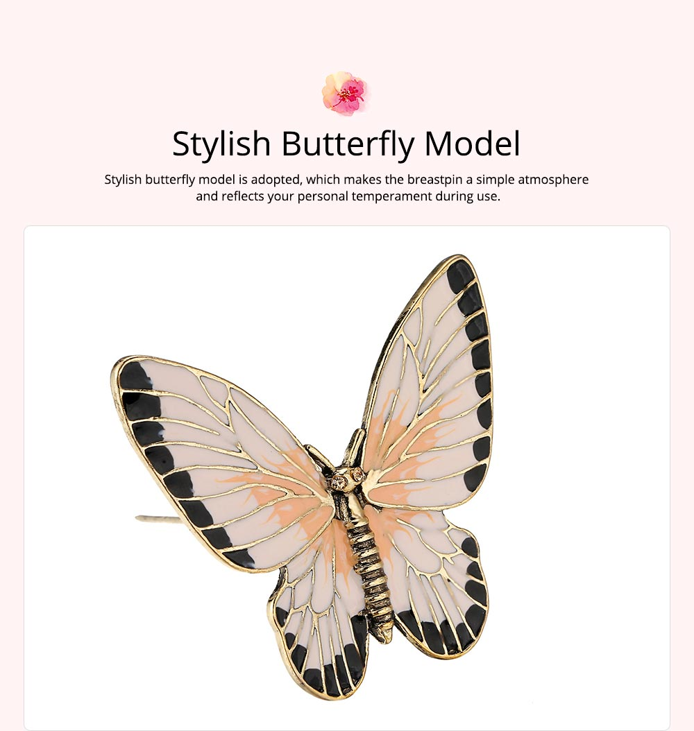 Stylish Atmosphere Butterfly Cartoon Insect Brooch for Ladies, Diamonds Drilling Dripping Clothes Accessories Decoration Breastpin 4