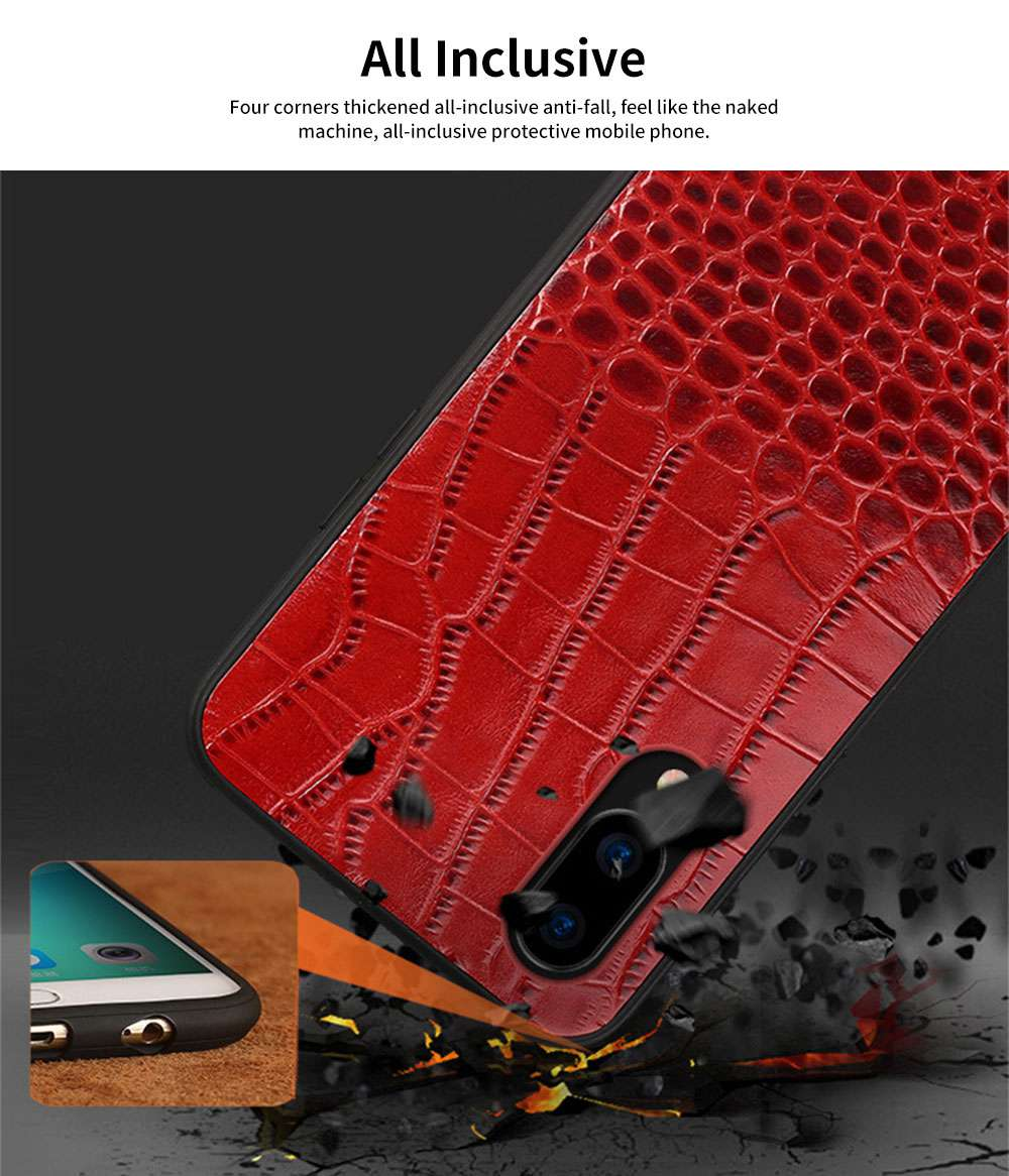 Classic Leather Phone Case for Vivo x21, Anti-fall Mobile Phone Case for X20 plus, Non-slip Full-pack Case for Vivo X23 1