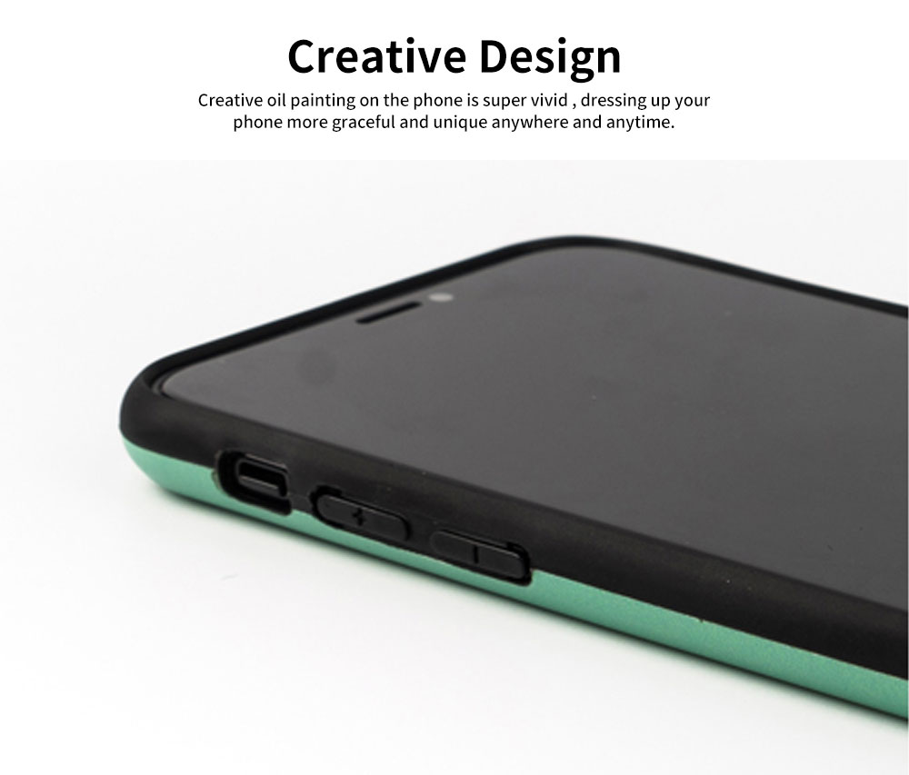 Creative Phone Case Retro Europe and America Matte Soft TPU Back Case Cover Phone Protective Shell for iPhone 6s 7/ 7 Plus / 8/ 8 Plus/XS/X MAX/XS MAX/XR 5
