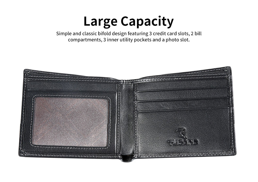 Multi-layer Quality Genuine Leather Slim Wallets Bifold Vintage Money Clip Gifts for Male Men Boy 2