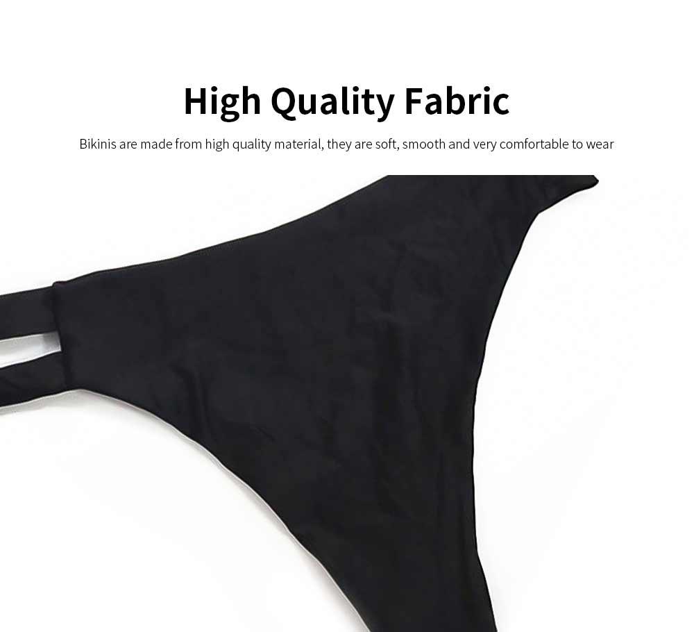 Women's Spaghetti Straps Bandage Bikini Suit, Sexy Bikini with Hollow Design, Hollow Bikini without Steel Falsies Support 3