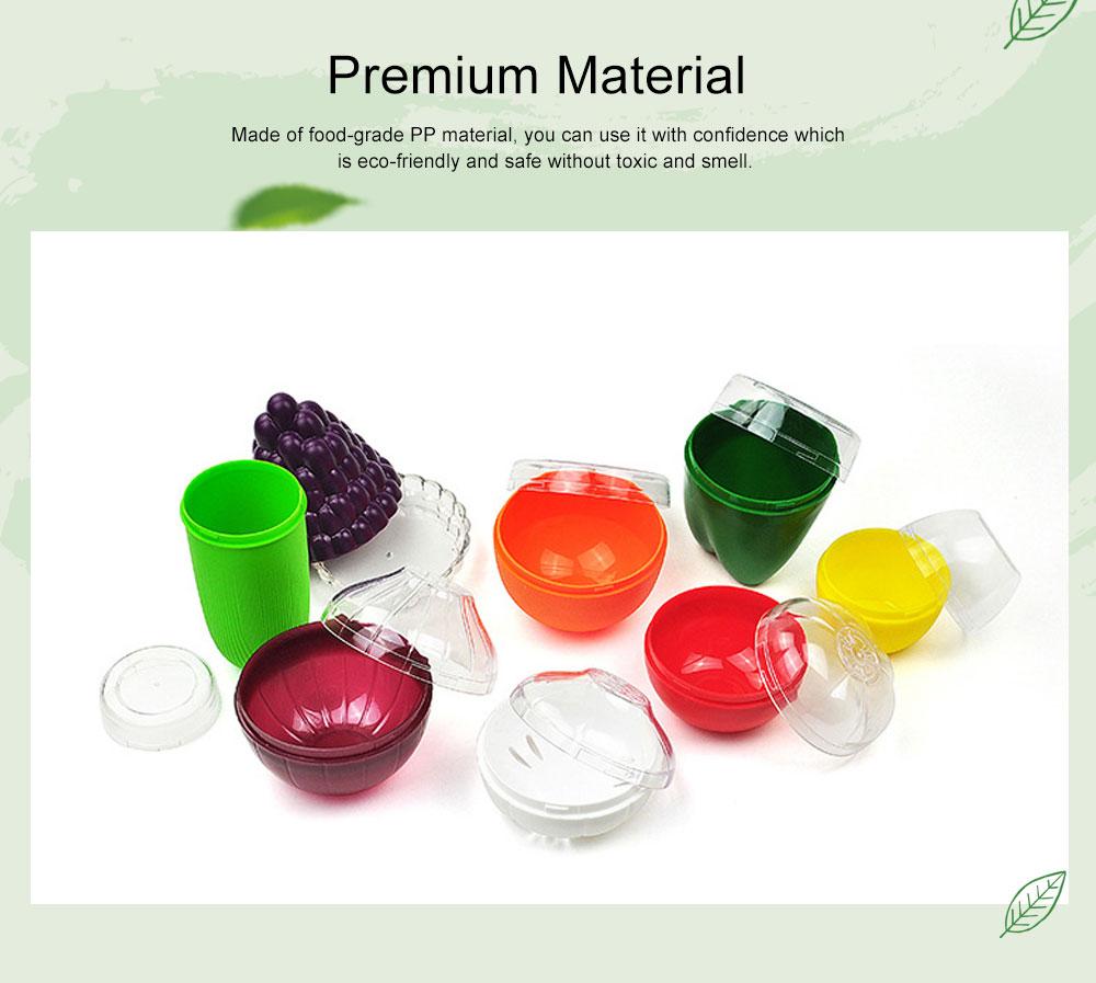 Mini Vegetable Sealed Box, Non-toxic Portable Plastic Crisper Set, Transparent Grape & Garlic Crisper Bowl 1