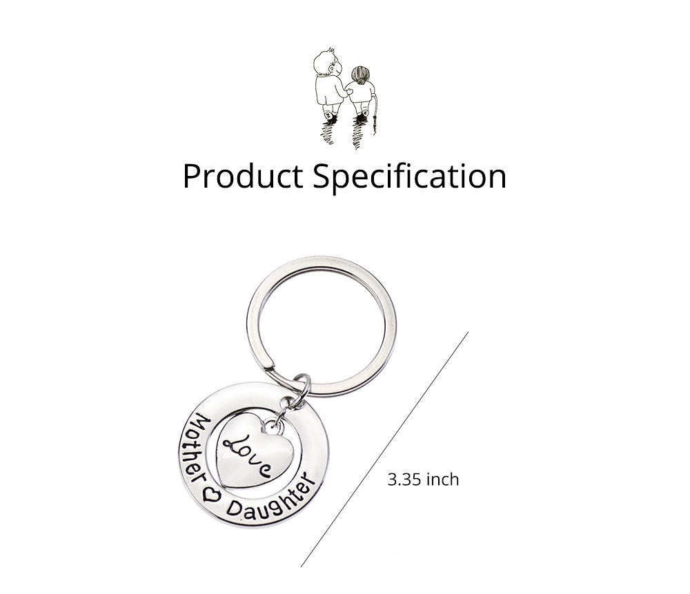 Delicate Love Lettering Alloy Stainless Steel Kay Chain for Men Women, Stylish Bag Decoration Key Accessory Gifts for Mother 5