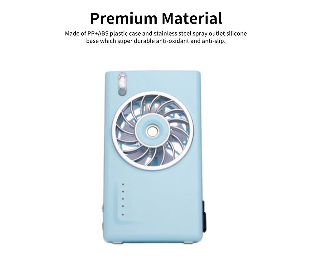 Mini Portable USB Handheld Misting Fan, USB Rechargeable Desk Fan with Personal Cooling Humidifier for Outdoor, Home, Car 3
