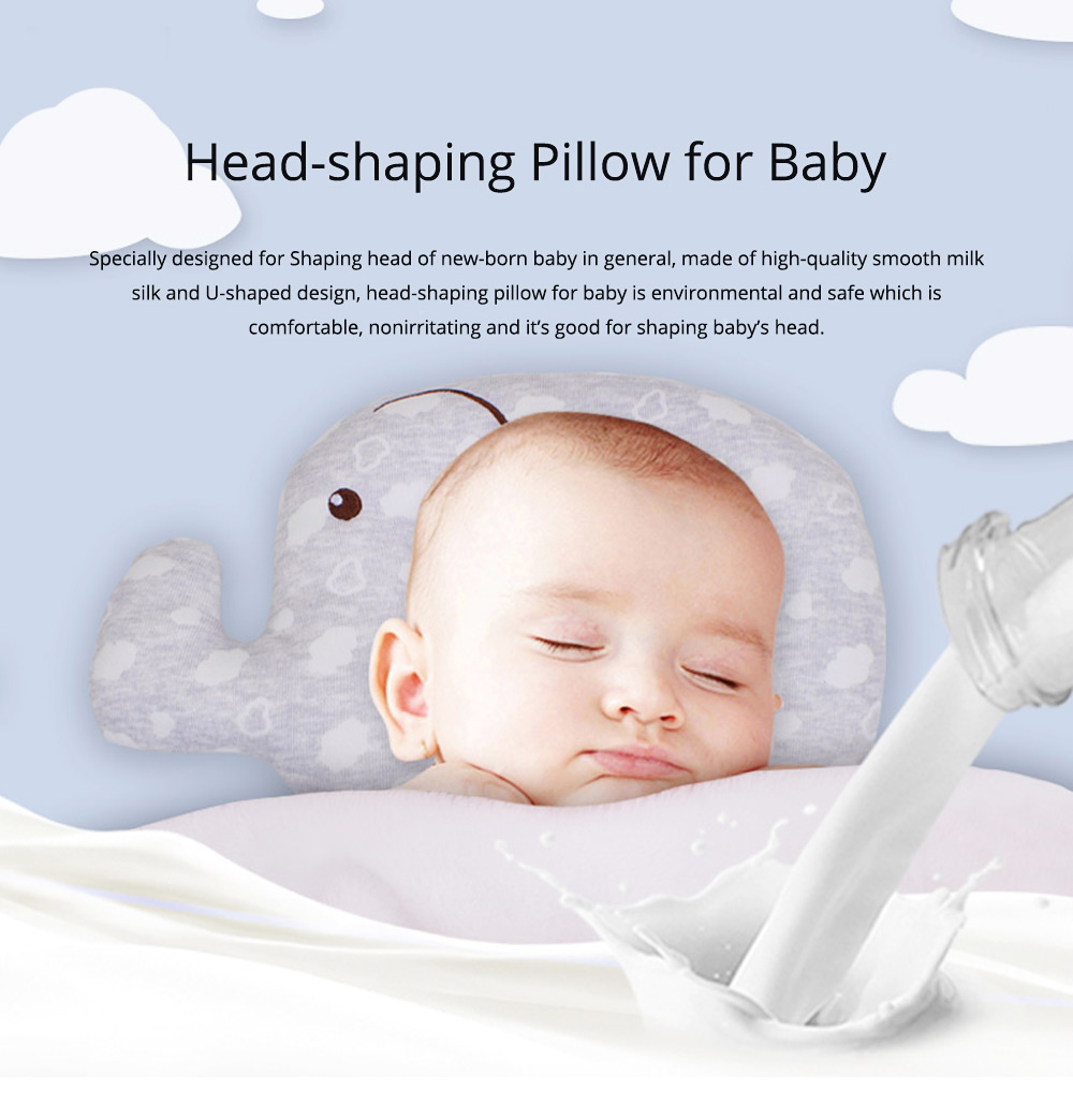 New-designed Head-shaping Pillow for Baby, U-shaped Pillow Made of Milk Silk, Children Pillow for Correcting Plagiocephaly 0