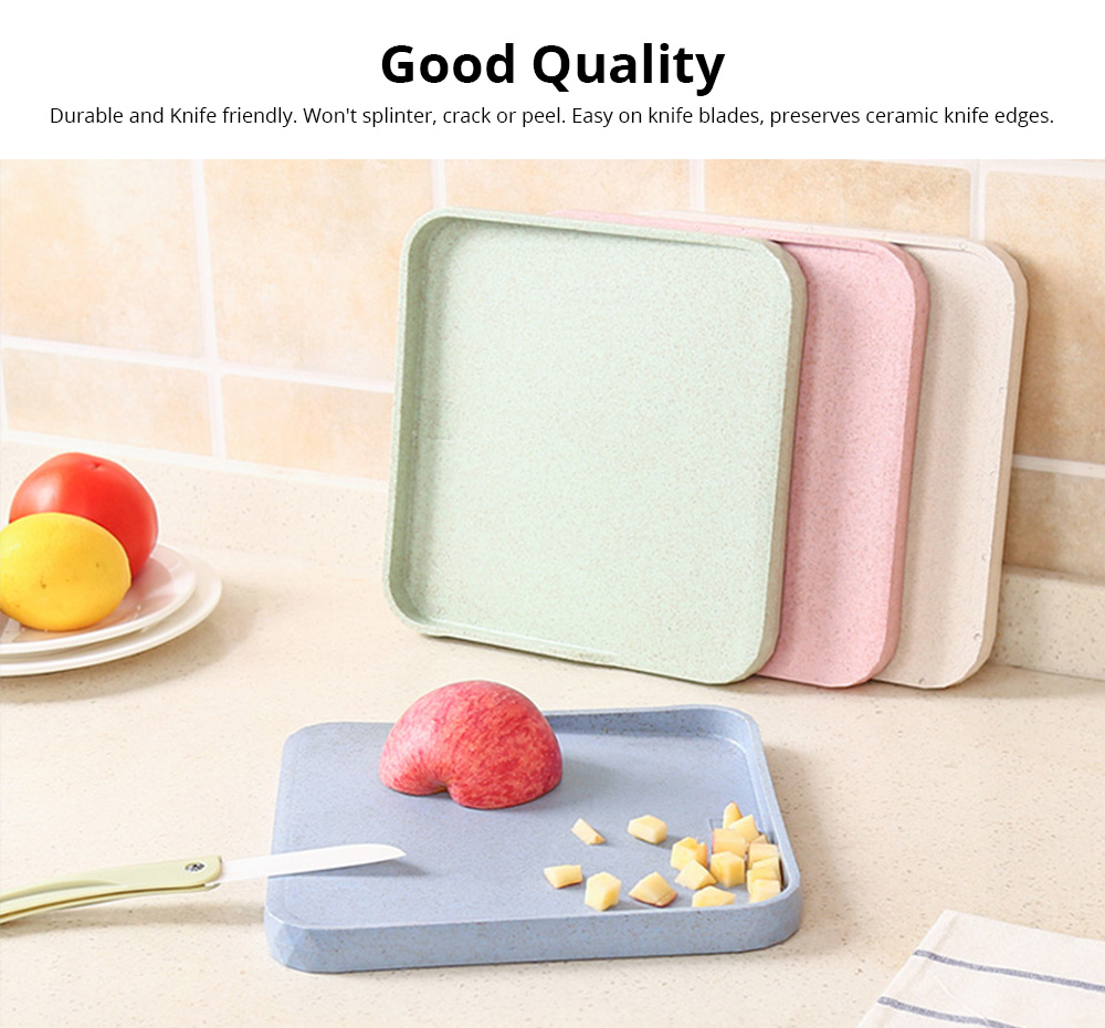 Non-Slip Anti-Bacterial Cutting Board, Wheat Straw Fiber Chopping Board for Meat Fruit and Vegetable 2