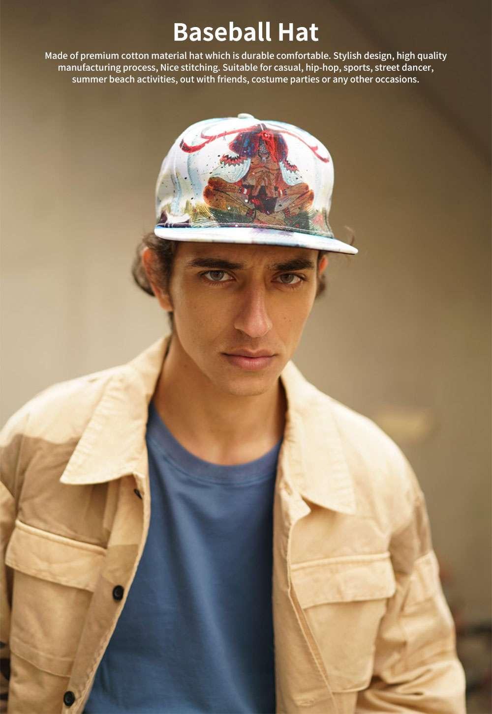 Unisex Hats Creative Graffiti Snapback Flat Bill Hip Hop Hats Casual Baseball Caps for Dancing Women Men Best Gifts 0