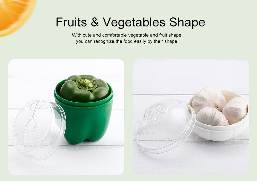 Mini Vegetable Sealed Box, Non-toxic Portable Plastic Crisper Set, Transparent Grape & Garlic Crisper Bowl 3