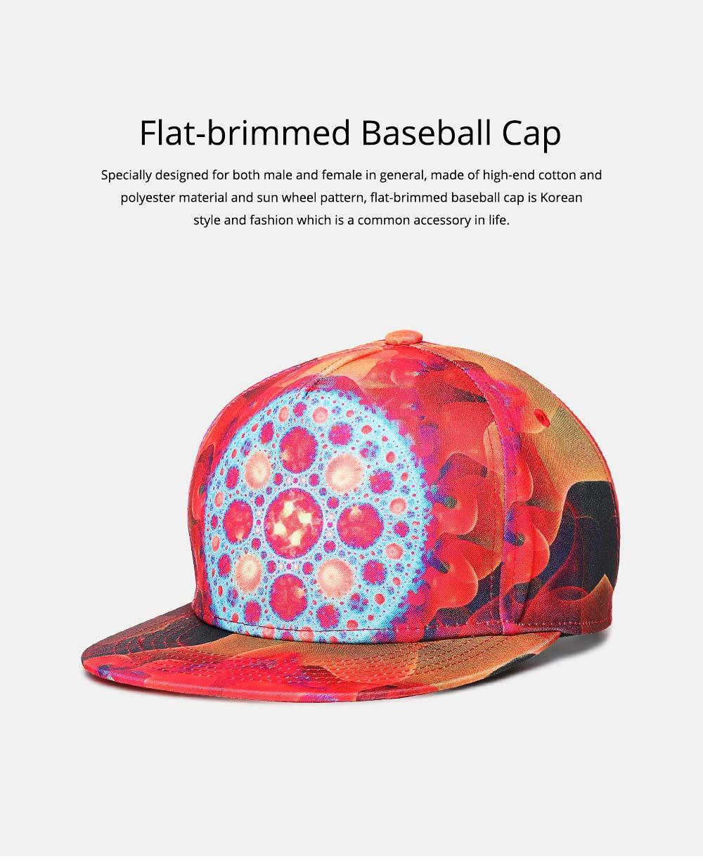 Fashion Flat-Brimmed Baseball Cap for Woman, Men's Street Dance & Hip-hop Cap 0