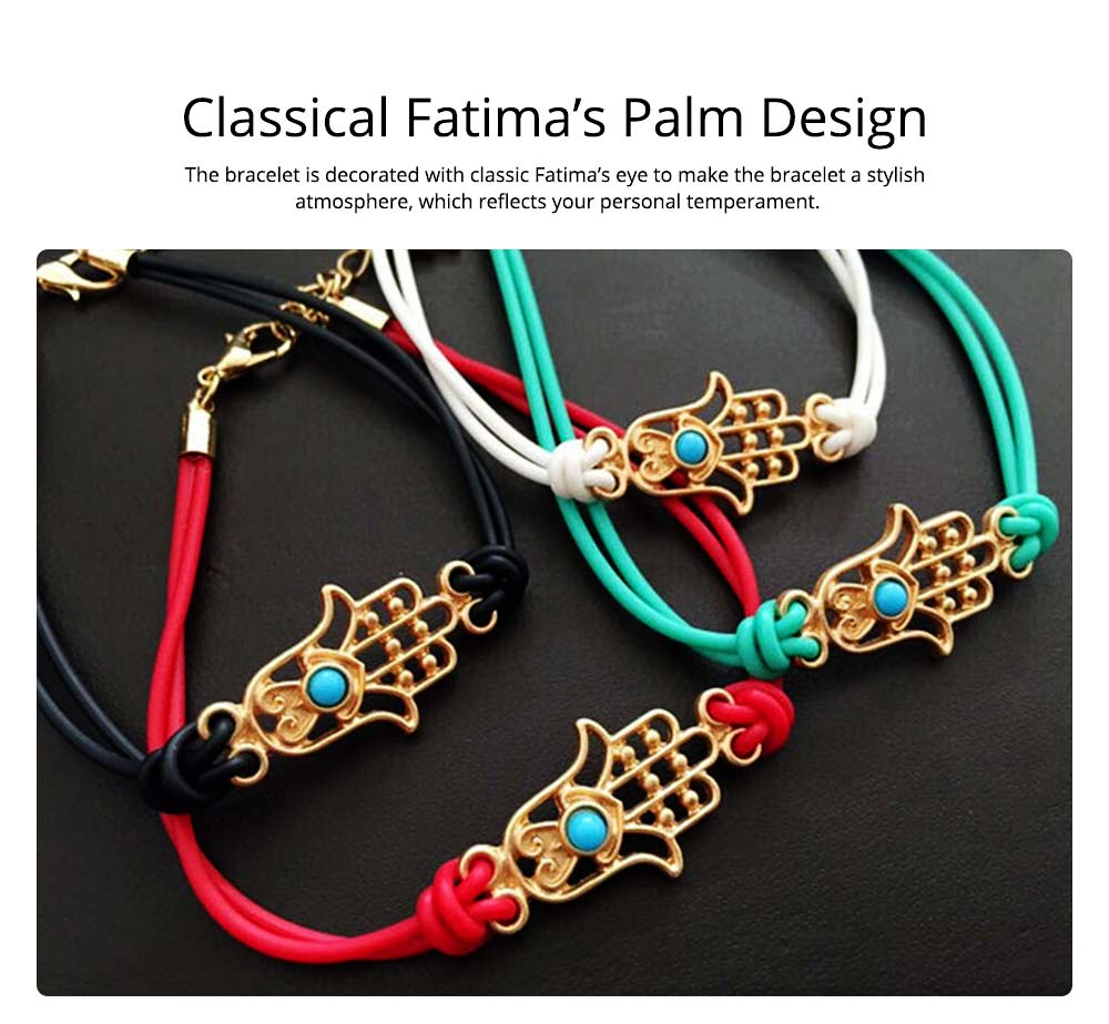 Simple Minimalist Stainless Knit Bracelet, Fatima's Palm Model Decoration Delicate Stylish Hand Chain Bangle Accessories for Men Ladies Women 3