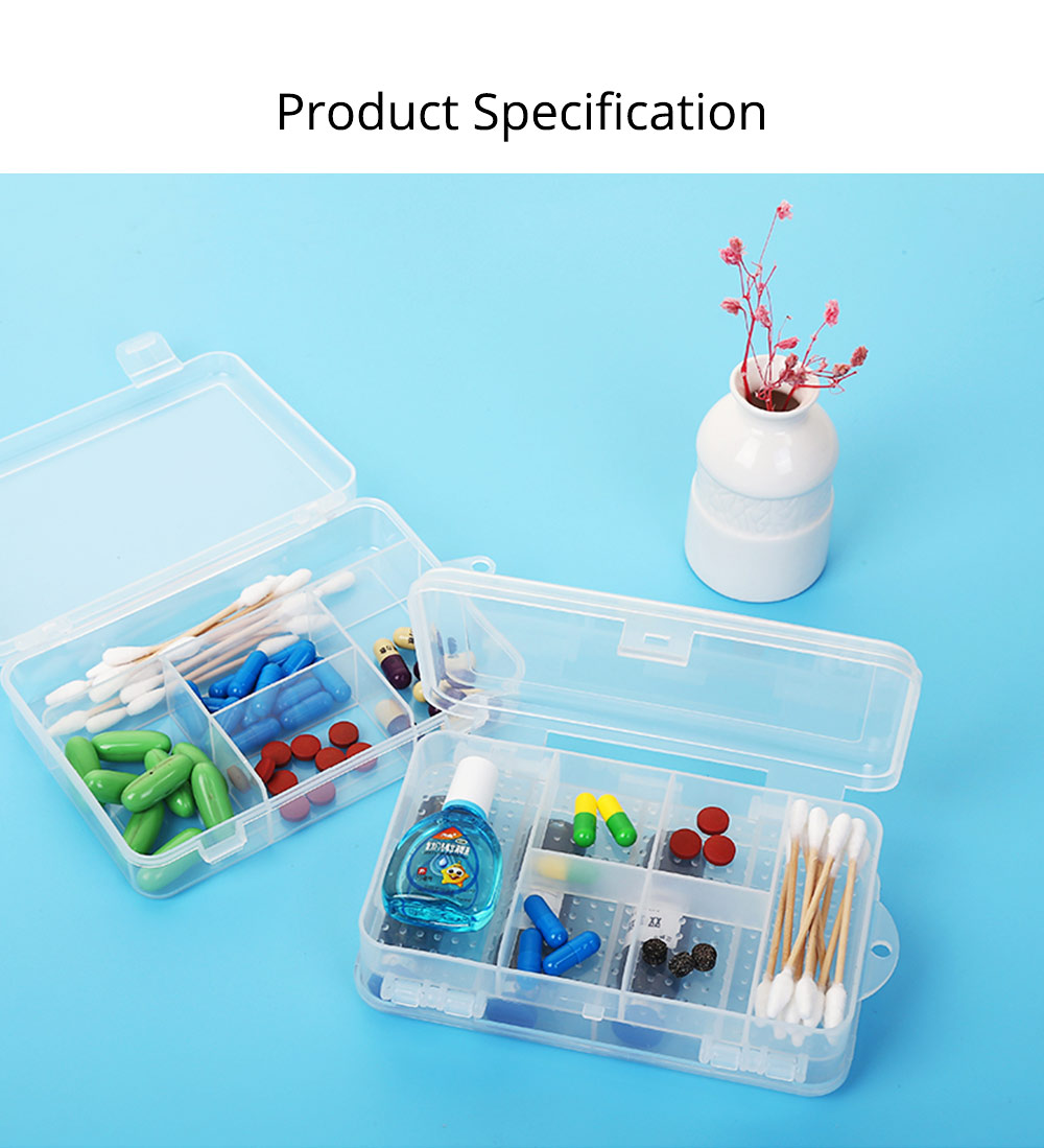 Transparent Pill Organizer For Small Medicine Bottle Wound Paste, Two-layers Portable Travel Medicine Box 5