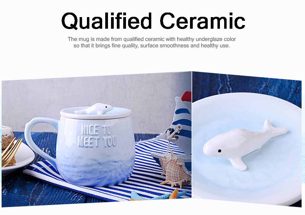 Breakfast Ceramic Cup Aromatherapy for Lovers Gift Gradient Ramp Color Cup Ceramic Cup with Lid Ocean Decoration 1