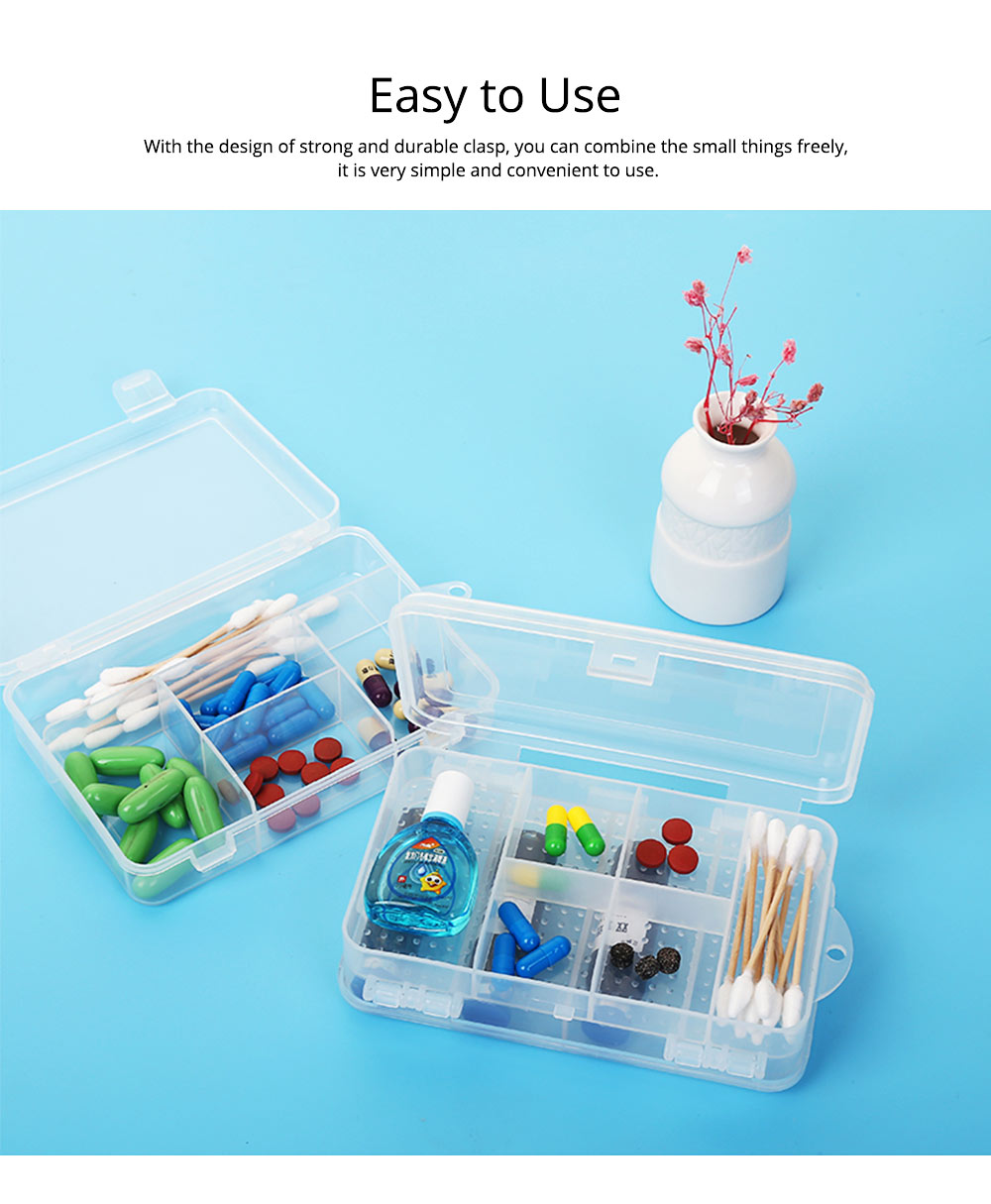 Transparent Pill Organizer For Small Medicine Bottle Wound Paste, Two-layers Portable Travel Medicine Box 2