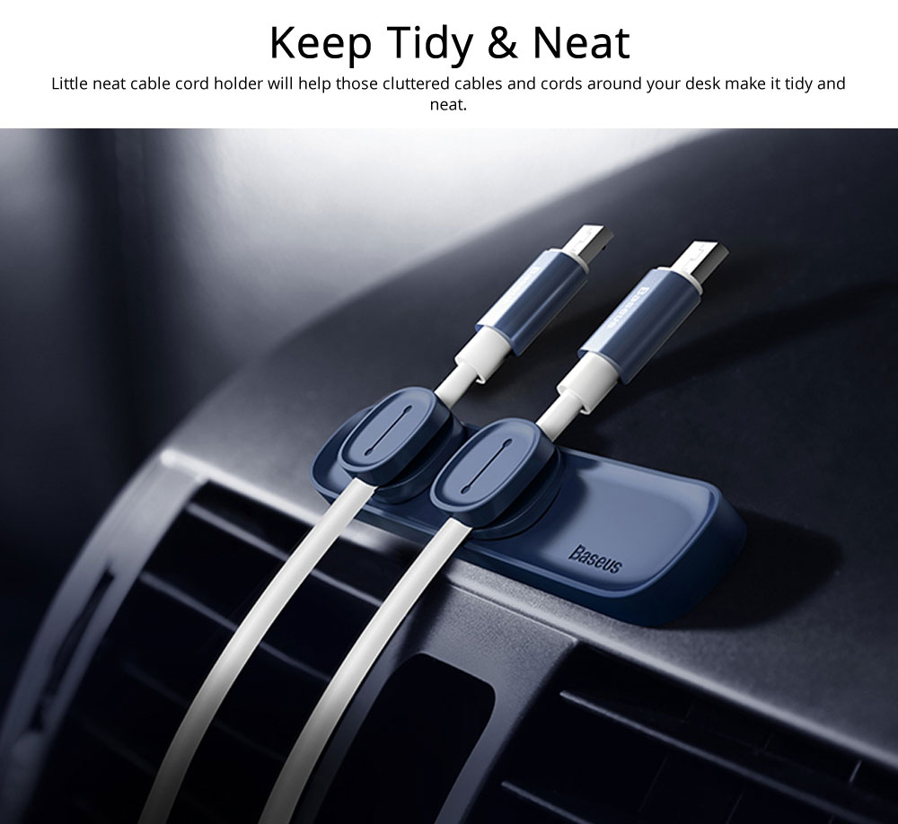 Magnetic Cable Organizer Mini Silicone Desktop Cord Management Multipurpose Magnetic Cable Clips For Car Office Home 3