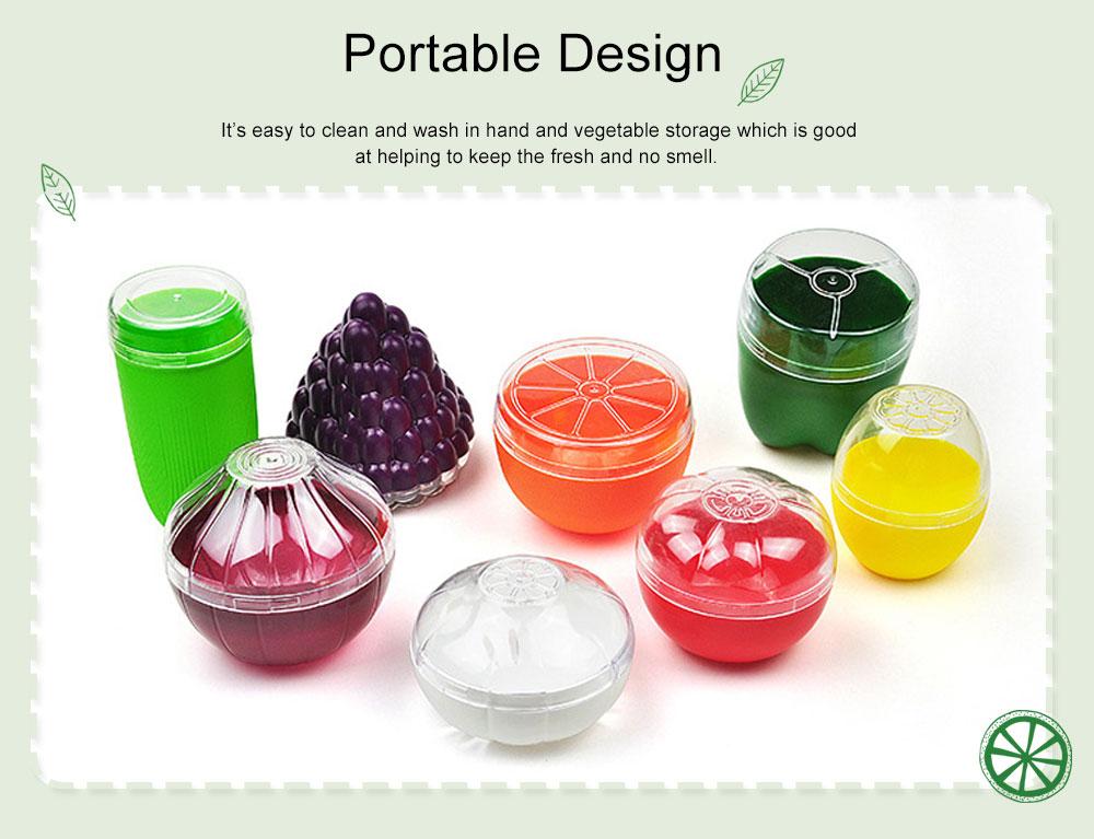 Mini Vegetable Sealed Box, Non-toxic Portable Plastic Crisper Set, Transparent Grape & Garlic Crisper Bowl 5