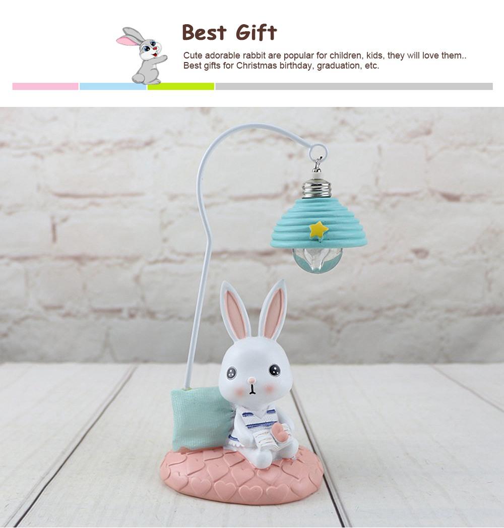 Cartoon Rabbit Night Light Resin Mini LED Night Lamp Home Decoration Creative Resin Ornaments 2