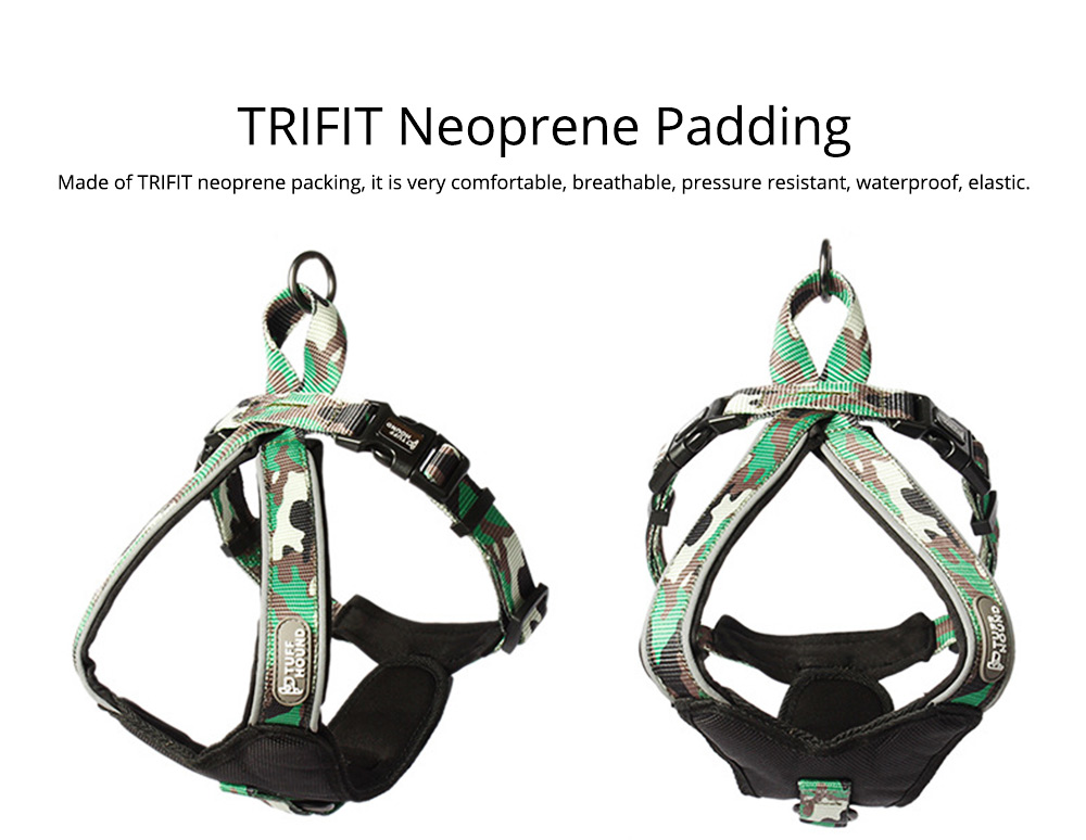 Pet Triangle Chest Strap for Medium-sized Large Dog, Dog Safety Vest Harness with Double Buckles and Zinc Alloy Ring 7