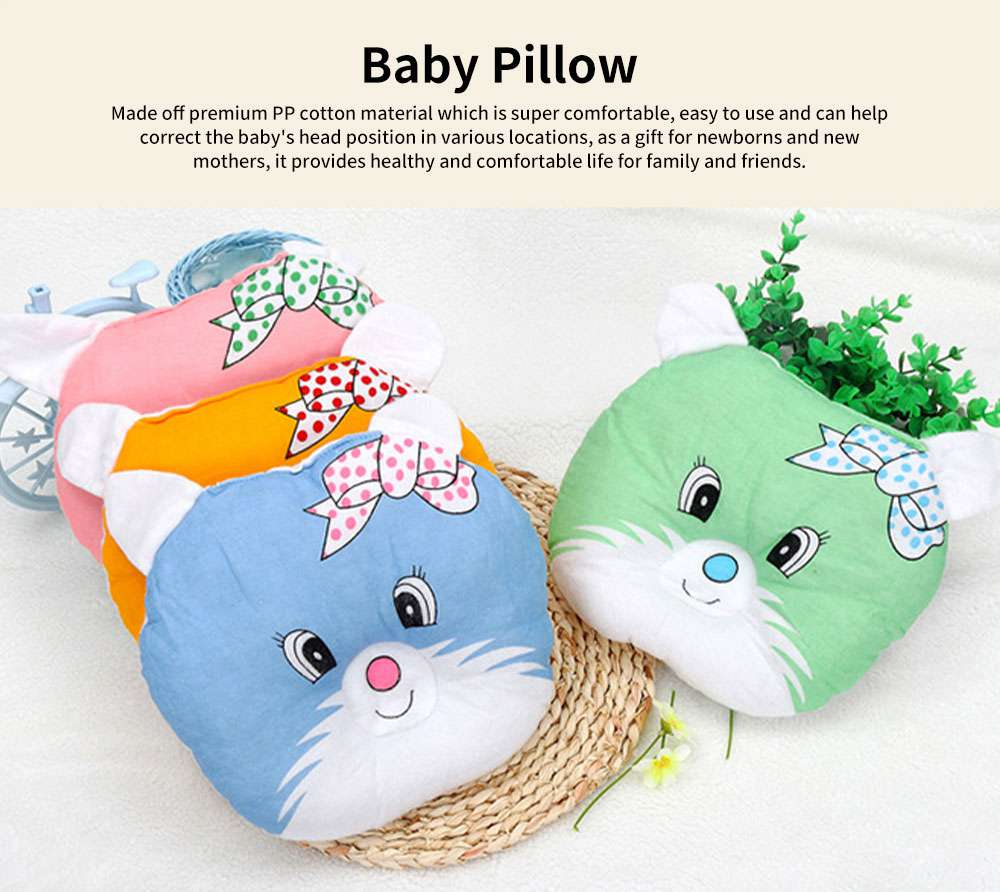 Baby Pillow Breathable Organic PP Cotton Newborn Head Shaping Pillow Flat Head Syndrome Prevention and Head Support Pillow 0