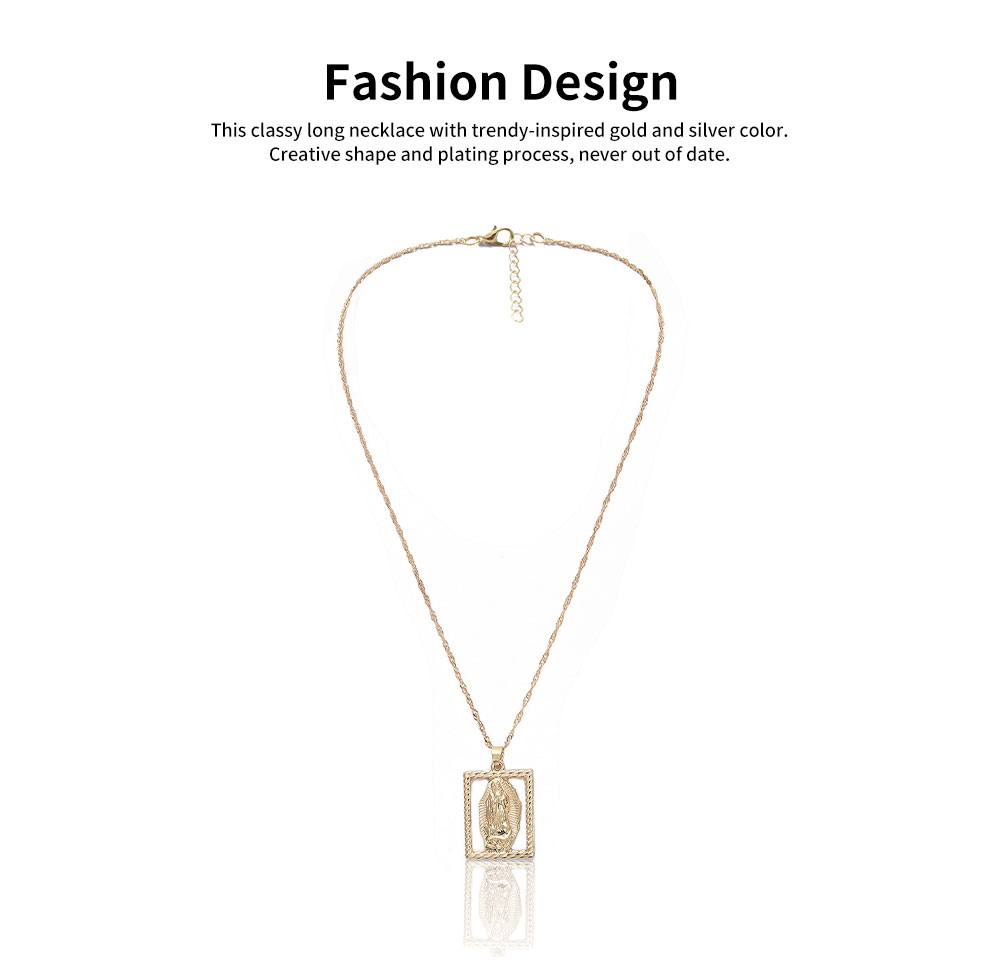 Sweater Chain Simple Hollow Out Versatile Sweater Necklace Fashion Pendant Necklaces for Woman 2