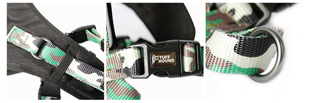 Pet Triangle Chest Strap for Medium-sized Large Dog, Dog Safety Vest Harness with Double Buckles and Zinc Alloy Ring 2