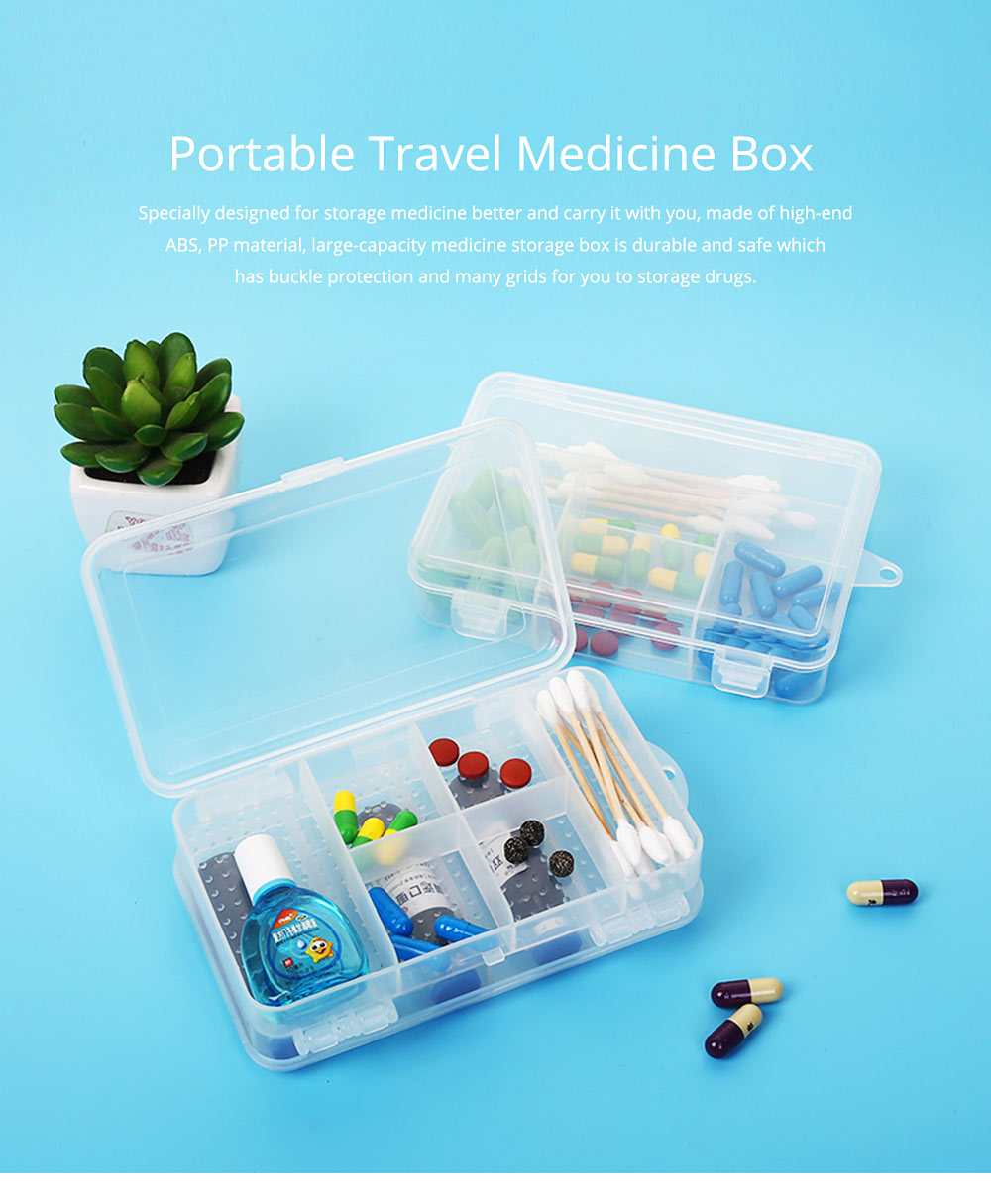 Transparent Pill Organizer For Small Medicine Bottle Wound Paste, Two-layers Portable Travel Medicine Box 0