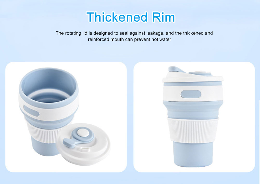 Silicone Sports Cup with Folding Design, Creative Portable Folding Coffee Cup, Shock Resistant to Fall Travel Silicone Water Cup 7