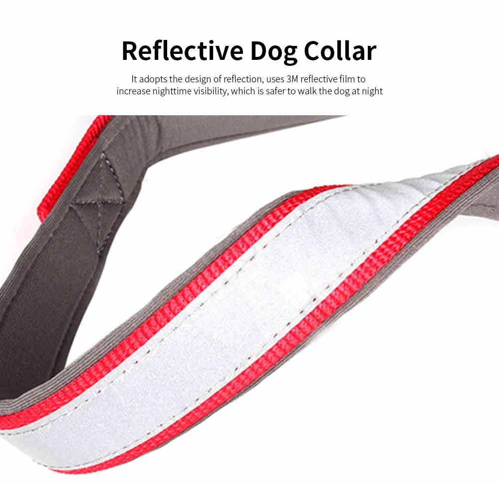 Reflective Dog Collar, Adjustable Pet Necklace, Multicolor Pet Necklace Hauling Rope 1