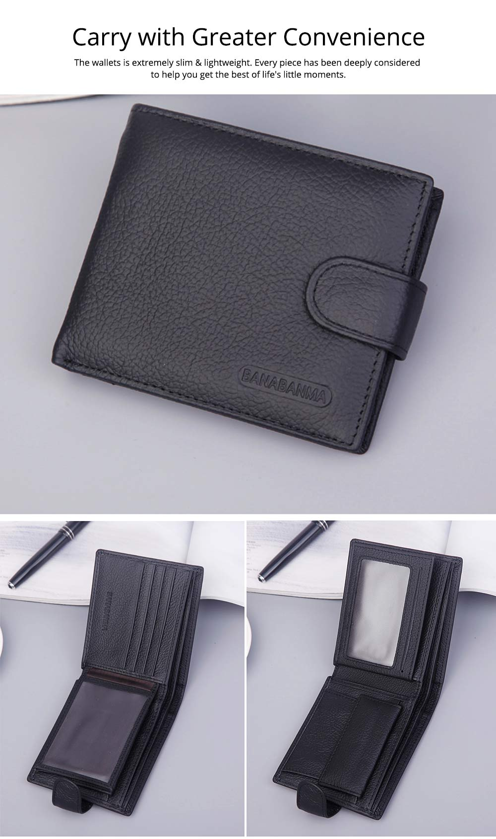 Beautiful Buckle Money Clip with Multiple Cards & Smooth Zipper & Large Capacity Design for Men 4