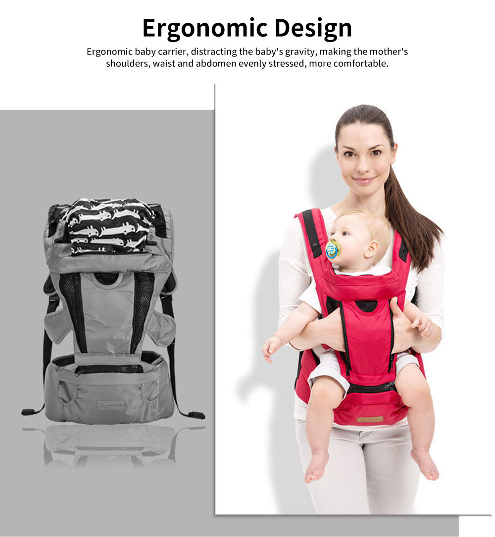 Front Carriers Baby Waist Stool Multifunctional Comfortable 4 Seasons Universal Detachable Baby Carriers Backpack 1
