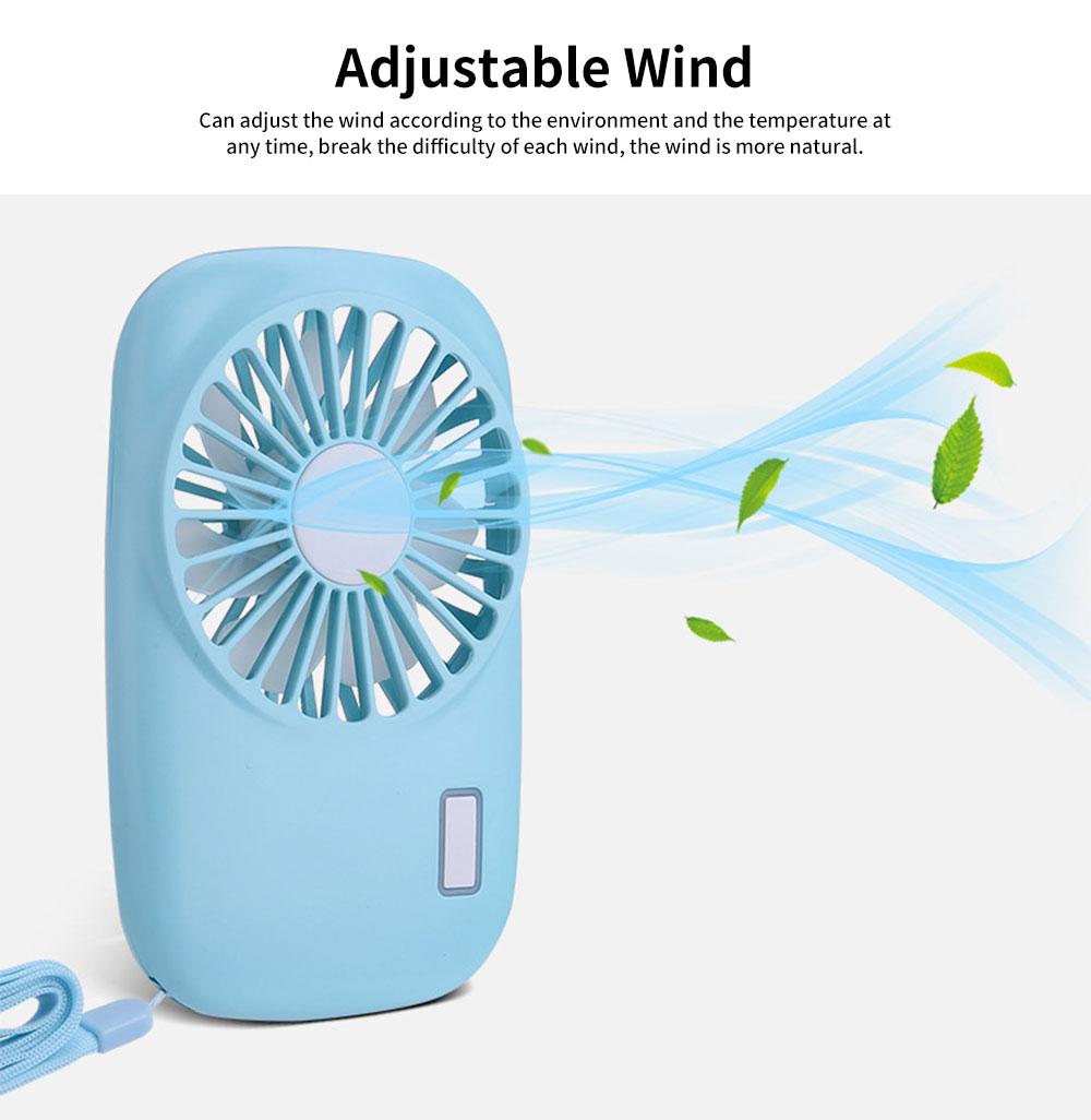 USB Rechargeable Camera Fan, Outdoor Portable Pocket Fan, Ultra-thin Handheld Mini Fan, Silent Compact Fan 3