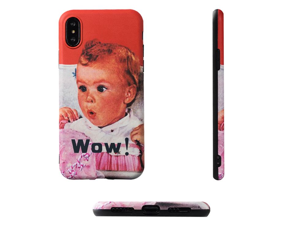 Cute Vintage WOW Girl Phone Shell for iPhone 6/6s, 6p/6sp, 7p/8p, X/XS, XR 6