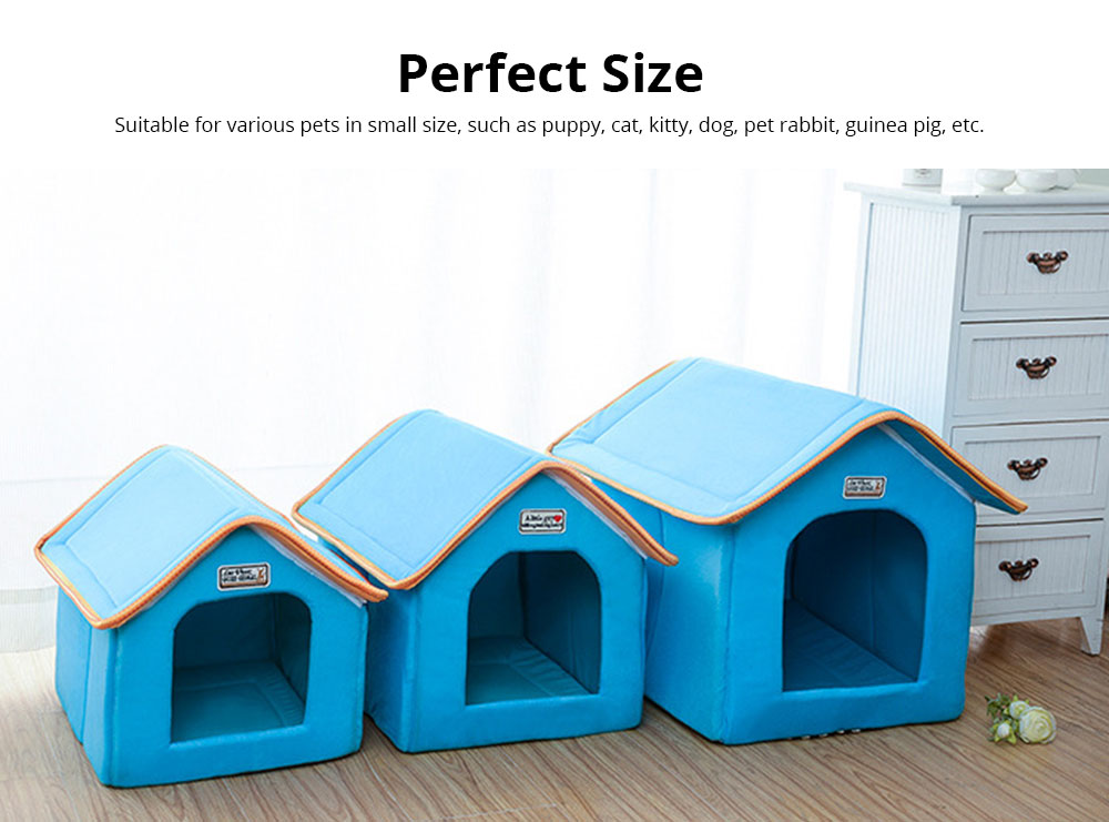 Dogs Cats Home Washable Soft Durable Detachable Pet Nest Autumn and Winter Thickened Pet House for Cat & Small Dog 5