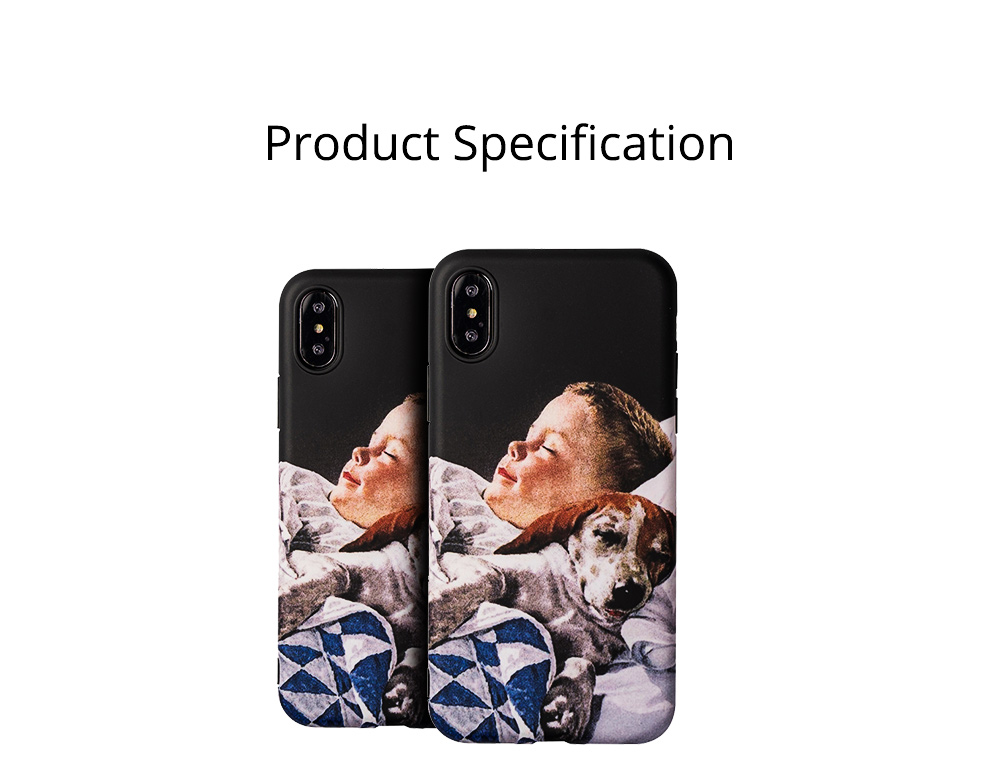 Mobile Phone Case with Retro Boy Dog Pattern for iPhone 6s/6sp, 7p/8p, XS/XR, Precise Audio Charging Hole Location Phone Shell 9