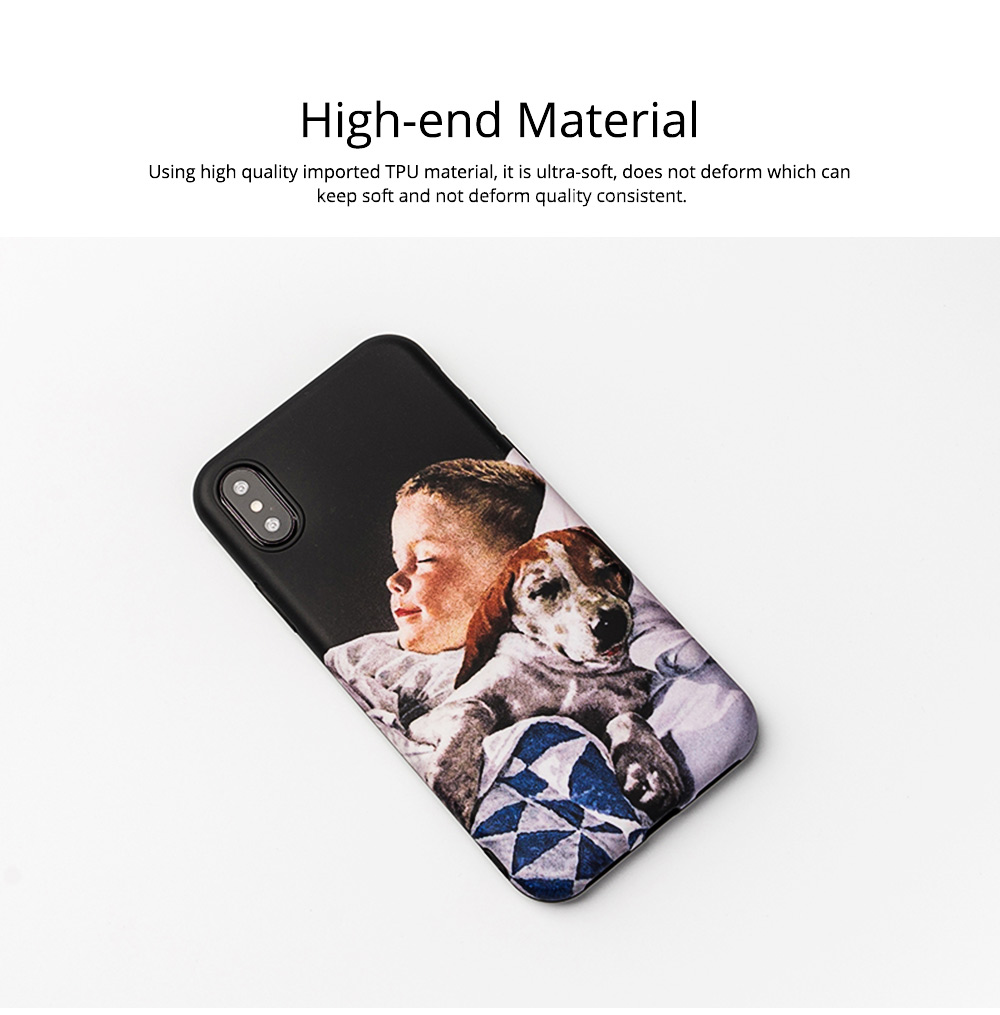 Mobile Phone Case with Retro Boy Dog Pattern for iPhone 6s/6sp, 7p/8p, XS/XR, Precise Audio Charging Hole Location Phone Shell 1