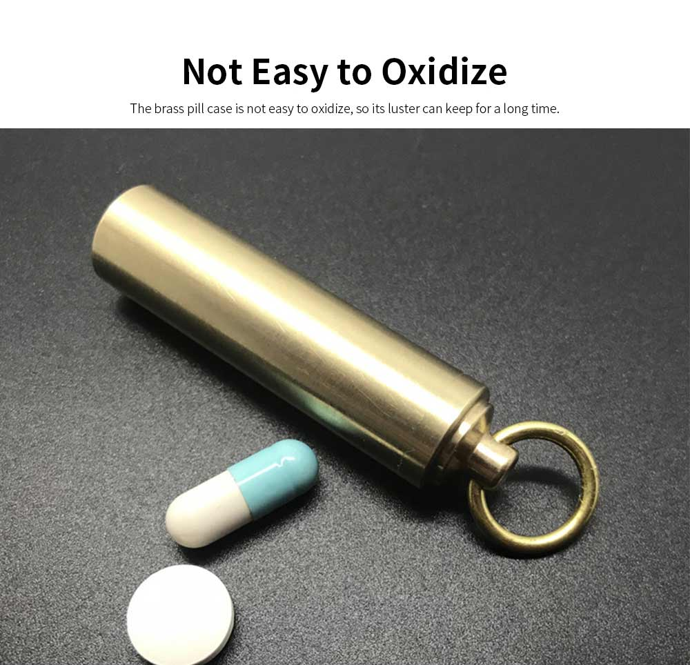 Mini Key Chain Medicine Bottle for Elderly Children, Sealed Pocket Pill Box Waterproof Pill Container with Screw Cap 3