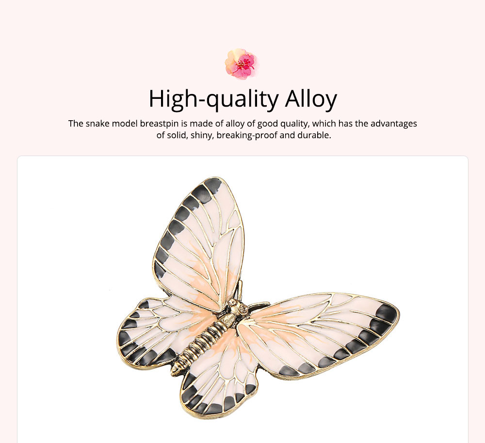 Stylish Atmosphere Butterfly Cartoon Insect Brooch for Ladies, Diamonds Drilling Dripping Clothes Accessories Decoration Breastpin 1